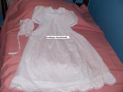 smocked hand embroidered christening wear by cutiepye