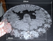 Brand New * VINTAGE * CRYSTAL* CAKE STAND