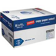 Staples copy paper Letter Size 8.511, 75gsm and 80gsm