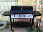 4 burner hooded gas bbq