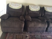 1 three seater Sofa and 2 one seater Recliners