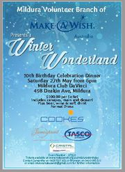Mildura Branch of Make-A-Wish 10th Birthday Celebration Dinner